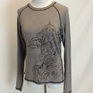 Prana | Octopus Sea Life Long Sleeve Top Large